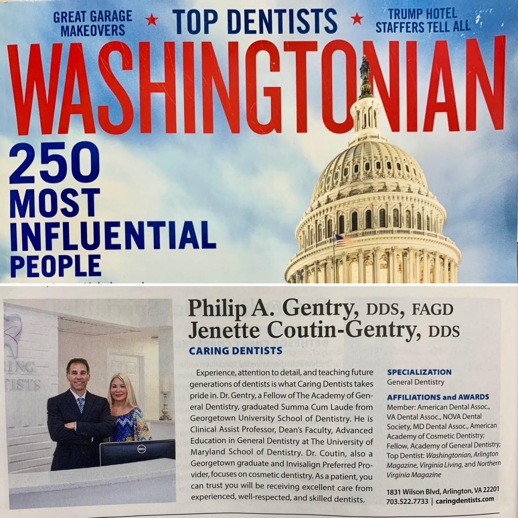 Washingtonian Magazine Top Dentist